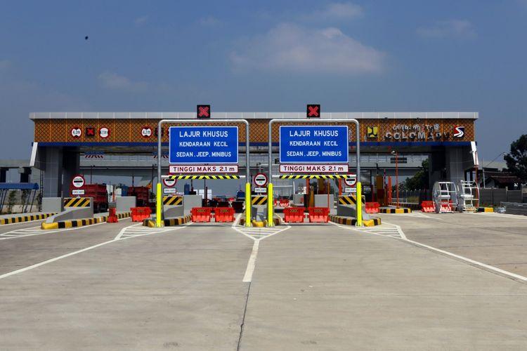 Kondisi Gerbang Tol Colomadu proyek jalan Tol Salatiga-Colomadu di Karanganyar, Jawa Tengah, Senin (4/6/2018). Terhitung mulai 8 Juni 2018 aatau H-7 Lebaran, Jalan tol fungsional tersebut sudah dapat dilalui pemudik.
