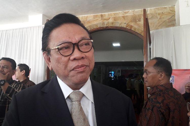 Ketua Dewan Pakar Partai Golkar Agung Laksono di Kampus IPDN Cilandak Timur, Jakarta Selatan, Selasa (23/7/2019).