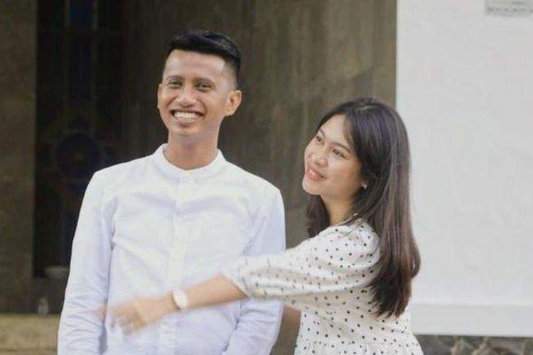 Gunawarman Tri Pambudhi dan Eliza Madyanty yang merupakan anak bupati Subang. (Tribun Jabar)