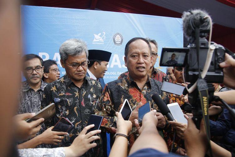 Kementerian Riset, Teknologi dan Pendidikan Tinggi (Kemenristekdikti) resmi ditutup oleh Menristekdikti Mohamad Nasir di Gedung Soedarto Universitas Diponegoro (4/1/2019).