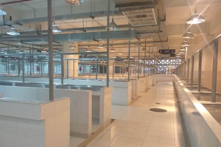Pasar Senen Blok III memiliki fasilitas pasar basah di bagian bawa, Selasa (9/1/2018)