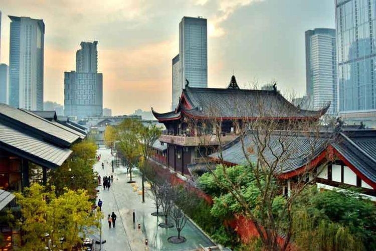 Ilustrasi pembangunan China dan pertumbuhan ekonominya.