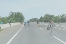 Video Aksi Pemalakan dan Pelemparan Batu di Tol Medan