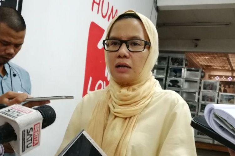 Koordinator Badan Pekerja Komisi untuk Orang Hilang dan Tindak Kekerasan (KontraS) Yati Andriyani
