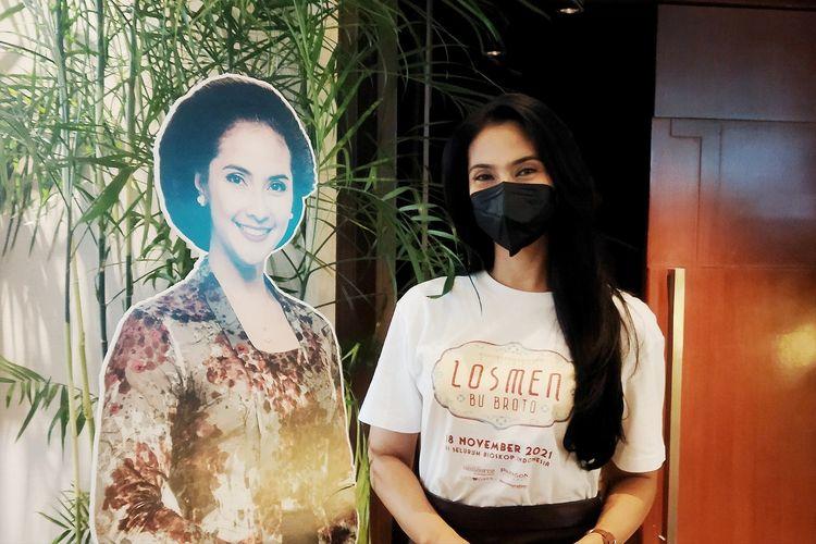 Aktris Maudy Koesnaedi saat ditemui di XXI Epicentrum, Kuningan, Jakarta Selatan, Kamis, (23/9/2021).