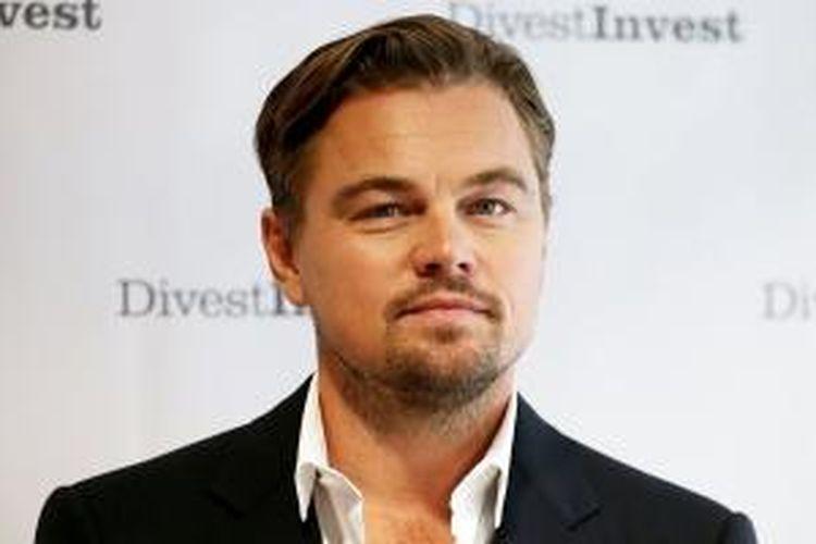 Leonardo DiCaprio saat menghadiri konferensi Divest-Invest yang dihelat di New York, Amerika Serikat.