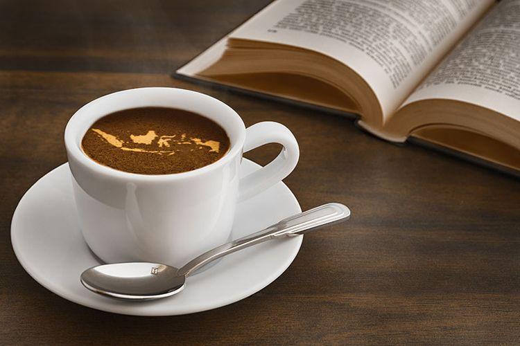 Ilustrasi kopi nusantara.