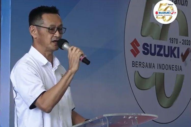 President Director PT Suzuki Indmobil Sales (SIS) dan Suzuki Indomobil Motor (SIM) Seiji Itayama