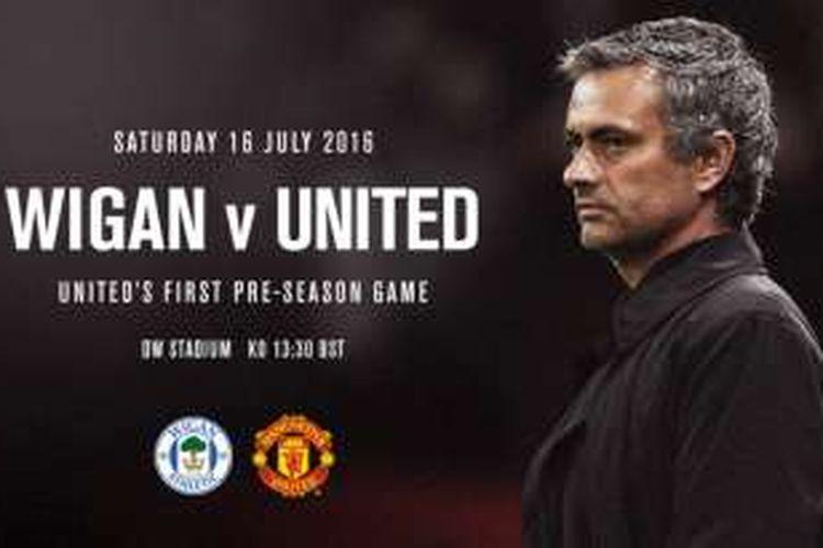 Pertandingan antara Manchester United dan Wigan menandai debut Jose Mourinho bersama Setan Merah.