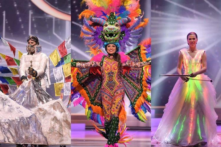 Deretan kostum nasional unik di Miss Universe 2020, Minggu (15/5/2021) malam waktu Hollywood.
