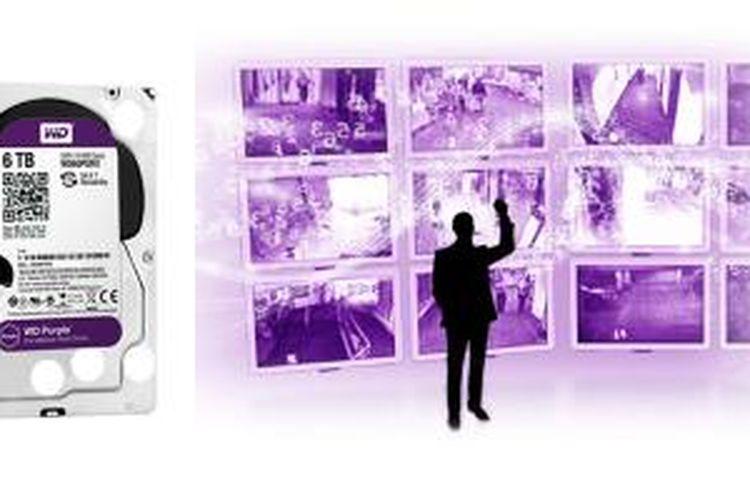 Western Digital Purple, varian hard disk 3,5 inci untuk sistem keamanan.