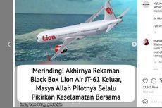 Ramai Rekaman Disebut dari Blackbox Lion Air JT-610, Ini Kata KNKT