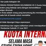 [HOAKS] Pendaftaran Kuota Internet Free dari Operator dan Kemdikbud