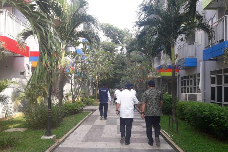 Fasilitas penginapan di Jakabaring Sport City Center menjelang perhelatan Asian Games XVIII, Jumat (13/7/2018).