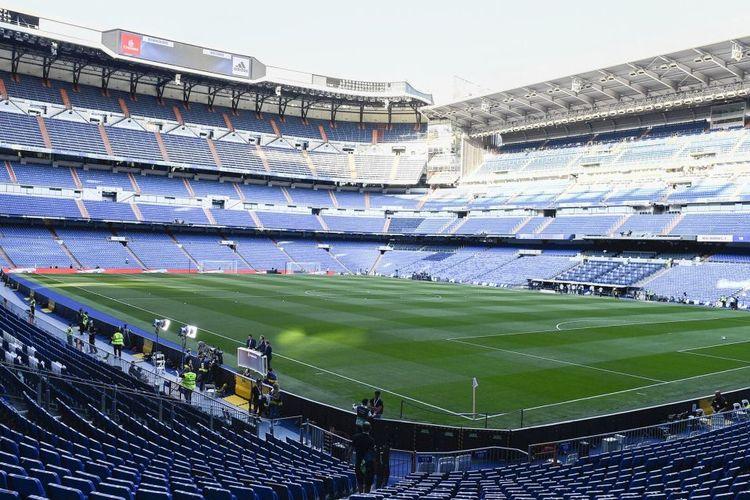 Ilustrasi Stadion Santiago Bernabeu, kandang Real Madrid.