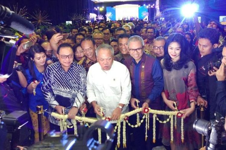 Pembukaan Properti Expo 2017 di Hall A-B, Jakarta Convention Center, Jakarta, Sabtu (11/2/2017).