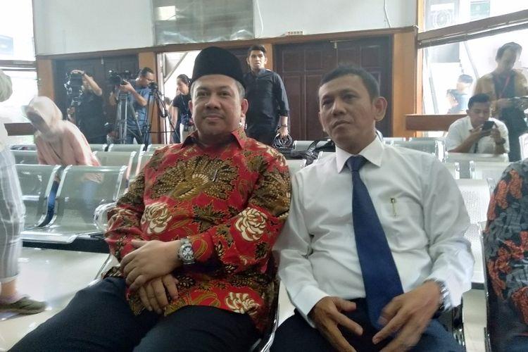 Fahri Hamzah Hadir Sebagai Saksi di Pengadilan Negeri Jakarta Selatan dalam Kasus Penyebaran Berita Hoaks, Selasa (7/5/2019)