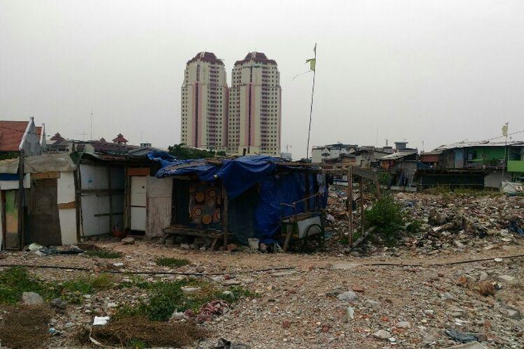 Kondisi terkini Kampung Akuarium di Penjaringan, Jakarta Utara. Foto diambil Rabu (18/10/2017).