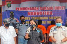 Polisi Musnahkan 1,2 Kg Sabu Hasil Penangkapan Bandar Narkoba Serpong Utara