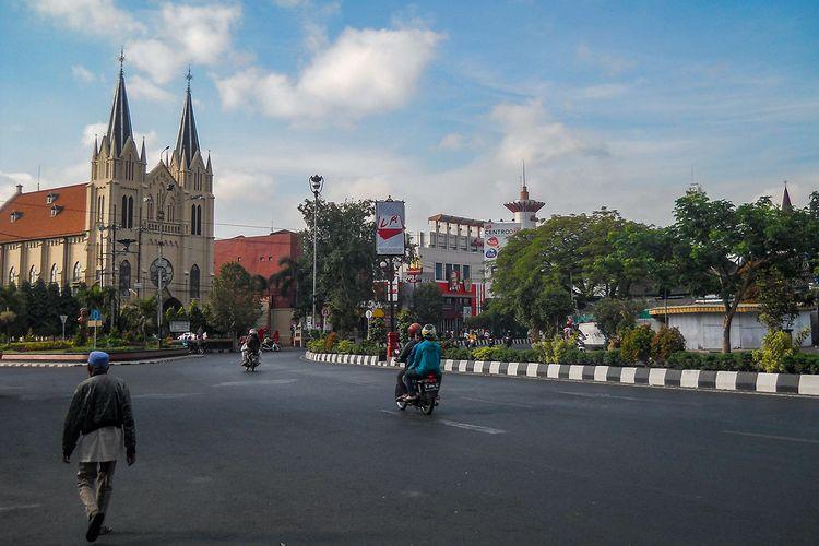 Ilustrasi kota Malang.