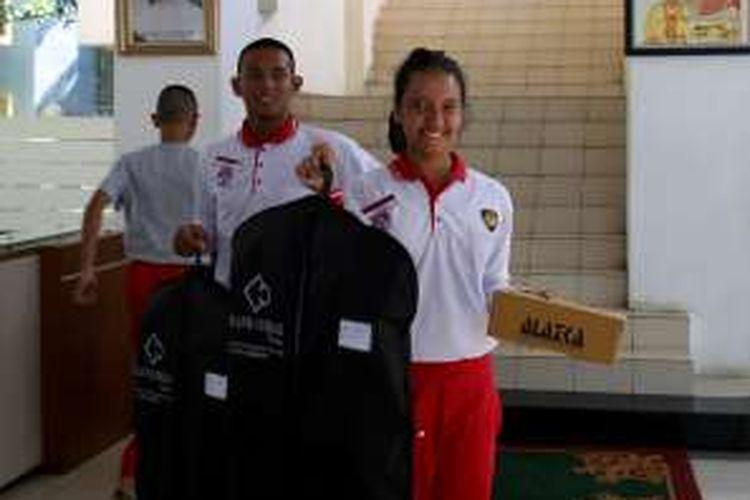 Gloria Natapradja Hamel, calon Pasukan Pengibar Bendera Pusaka (Paskibraka) perwakilan Jawa Barat.