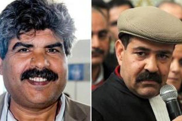 Dua pemimpin oposisi Tunisia, Mohamed Brahmi (kiri) dan Chokry Belaid diyakini dibunuh menggunakan senjata api yang sama.