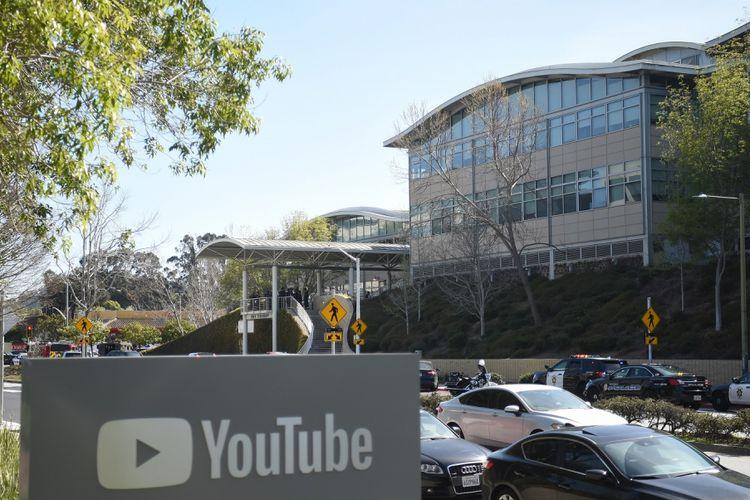 Kantor pusat YouTube di San Bruno, California, Amerika Serikat, lokasi insiden penembakan pada Selasa (3/4/2018) petang waktu setempat.