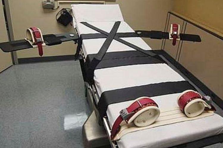 Ranjang yang dipakai untuk eksekusi suntik mati di Oklahoma.