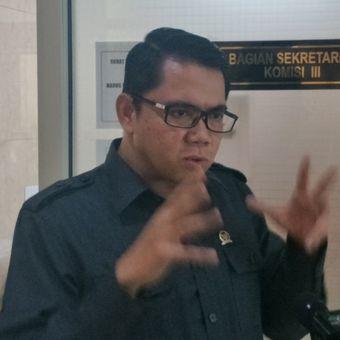 Anggota Komisi III DPR RI Arteria Dahlan saat ditemui di Kompleks Parlemen, Senayan, Jakarta, Kamis (15/3/2018).