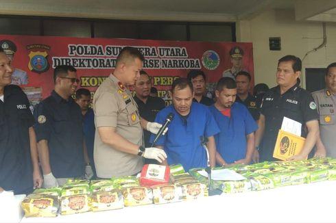 Polisi Gagalkan Peredaran 59 Kilogram Sabu dalam Bungkus Teh di Medan