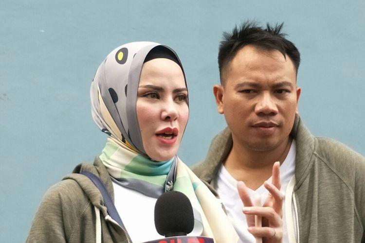 Angel Lelga dan Vicky Prasetyo saat ditemui di kawasan Tendean, Jakarta Selatan, Rabu (18/4/2018).