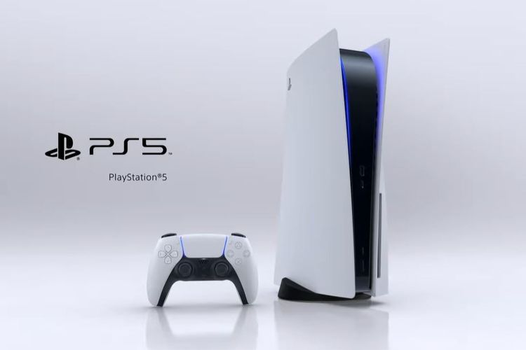 Controller DualSense (kiri) dan konsol PS5 (kanan).