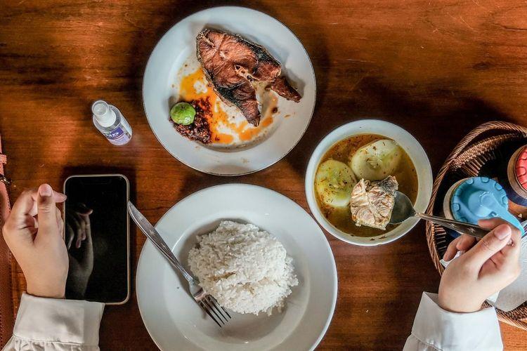Ilustrasi kuliner Indonesia.