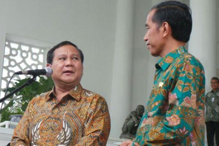 Ketua Dewan Pembina Partai Gerindra Prabowo Subianto menemui Presiden Joko Widodo di Istana Bogor, Kamis (29/1/2015).