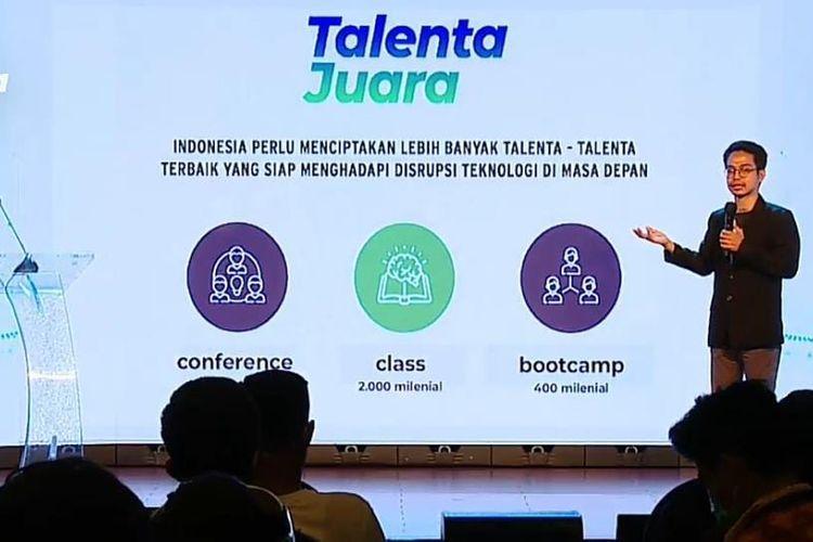 CEO Milenial Fest Daniel Iskandar dalam acara acara Milenial Fest Conference 2020, yang disiarkan secara virtual, Sabtu (15/8/2020).  (Tangkapan Layar)