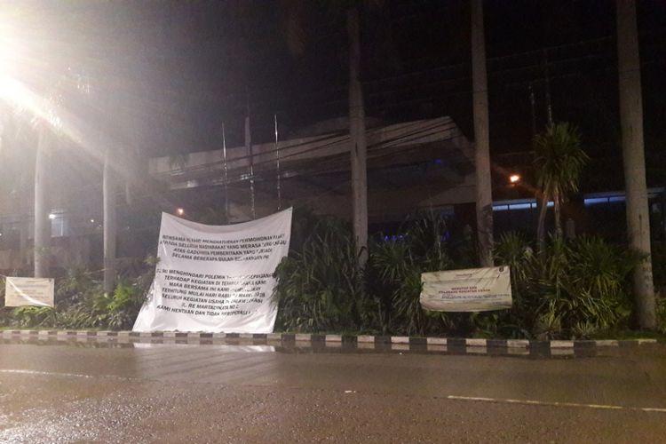 Suasana di Hotel Alexis, Pademangan, Jakarta Utara, terpantau gelap dan sepi pada Kamis (29/3/2018).