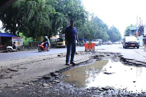 Kerusakan Jalan Perancis di Kota Tangerang akibat Proyek Tol Kunciran-Cengkareng