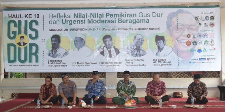 Peringatan haul Gus Dur di Pondok Pesantren Al-Fathaniyah, Serang, Banten. (9/2/2020).