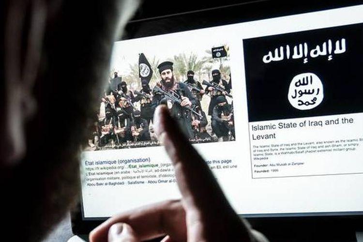 Ilustrasi terorisme di media sosial