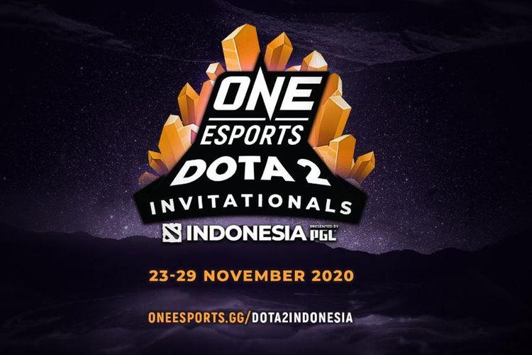 Logo Dota 2 Indonesia Invitational. Turnamen tersebut bakal berlangsung pada 23-29 November 2020 dengan total hadiah 500 ribu dolar AS atau setara Rp 7 miliar.