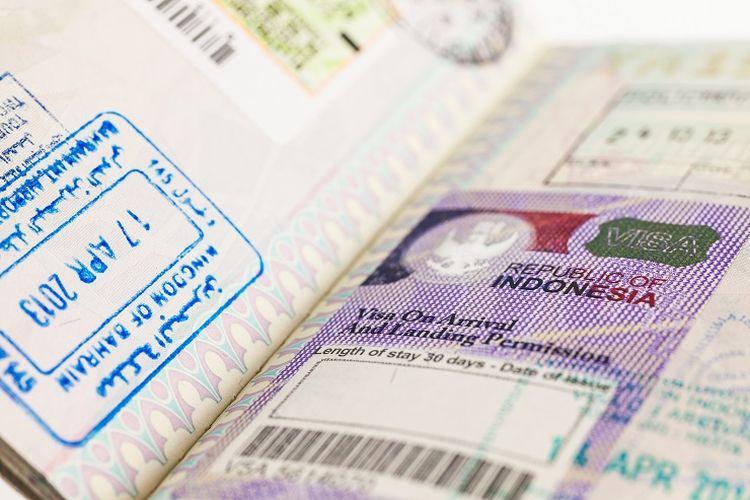Ilustrasi visa Indonesia.