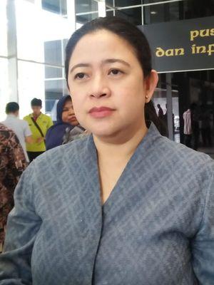 Ketua DPR Puan Maharani di Kompleks Parlemen, Senayan, Jakarta, Selasa (12/11/2019).