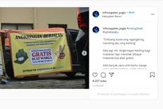 Viral Foto Angkringan Berjalan di Yogyakarta, Makanan Gratis untuk yang Membutuhkan