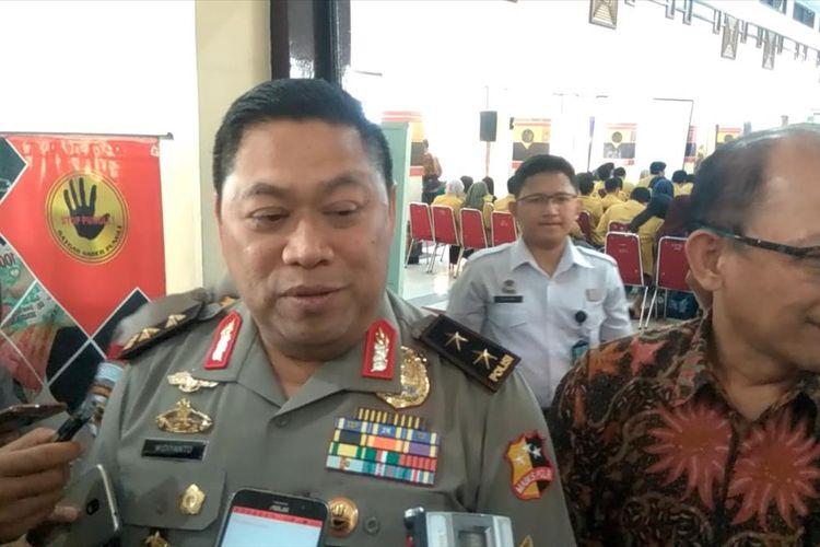 Sekretaris Satgas Saber Pungli Irjen Pol Widiyanto Poesoko di sela acara Sosialisasi Satgas Saber Pungli di Universitas Jenderal Soedirman (Unsoed) Purwokerto, Jawa Tengah, Rabu (31/7/2019).