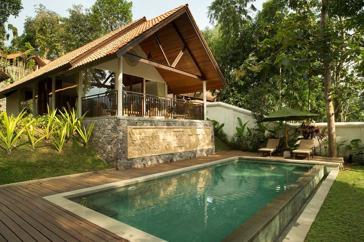 Grand Spa Pool Villa di Plataran Borobudur Resort & Villa.