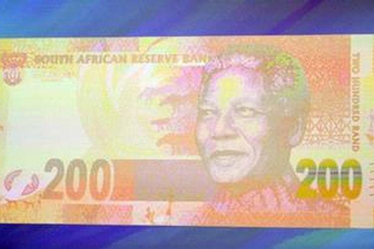 Uang kertas baru Afrika Selatan bergambar Nelson Mandela.