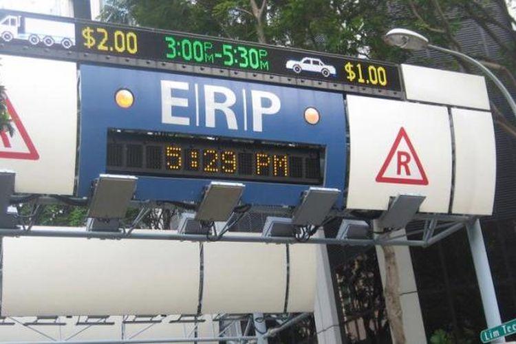 Foto ilustrasi Electronic Road Pricing (ERP) di Singapura.