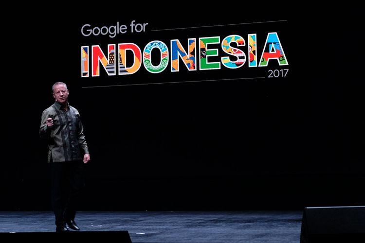 Country Director Google Indonesia, Tony Keusgen dalam acara Google for Indonesia, di Jakarta, Kamis (24/8/2017).