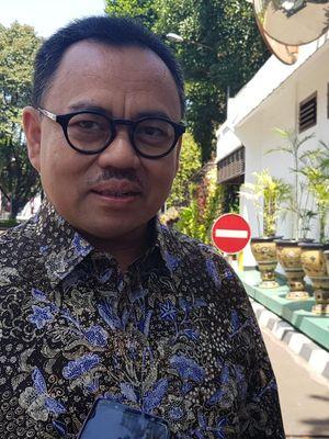 Sudirman Said usai bertemu Wakil Presiden Jusuf Kalla di Kantor Wapres, Rabu (21/8/2019).