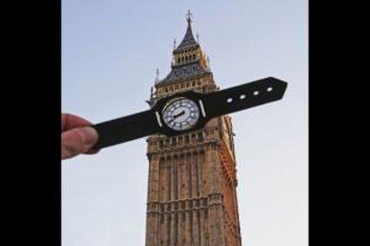 Foto Menara Jam Big Ben di London yang dikreasikan oleh McCor